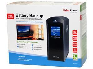 Cyber Power Battery Backup with Automatic Voltage Regulation, 1350 VA, 810 Watts