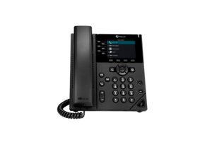 Polycom VVX 350 6-Line Mid-range Color IP Desktop Phone, Part# 2200-48830-025