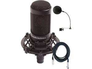 Audio Technica AT2035 W/Shock Mount , Pop Filter, and Microphone Cable