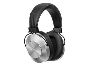 Pioneer Bluetooth 3.0 and Hi-Res Audio Over Ear Wireless/Wired Stereo Headphone with Built-In Mic, 12 Hours Battery, Pair 8 Devices, 40mm Drivers, 1.2m Cable, 9 Hz to 22 kHz, Silver (SE-MS7BT-S)