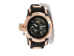 Invicta 11341 Russiandivr Black Camou Dial Quartz 3H Black Rose Watch