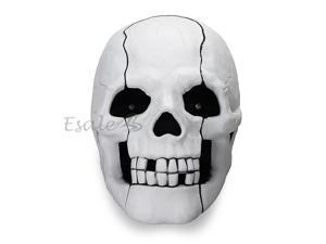 White Skull Head LED Flash Eyes Landline Corded Telephone Novelty