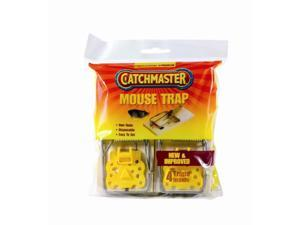 Catchmaster 00604 4 Mice / Mouse Traps Inside Wood Based Wire Snap Trap Easy Set