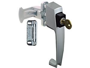 "National, N185-470, Aluminum, Push Button, Key Latch, Screen & Storm Doors With 1-1/2"" Hole Spacing"