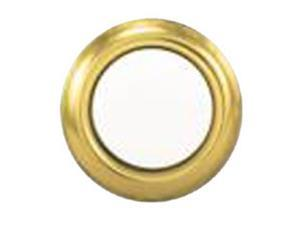 "Trine 45G 5/8"" Gold Rim With Pearl Center Push Button Doorbell (Unlighted)"