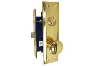 Marks Metro 91A/3 Brass Right Hand Mortise Entry, Surface Mounted, Lockset, Lock Set