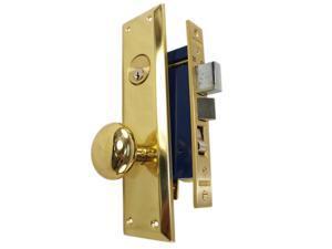 Marks Metro 91A/3 Brass Left Hand Mortise Entry, Surface Mounted, Lockset, Lock Set