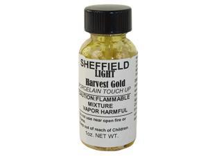 Sheffield, 1451, 1 OZ Bottle, Light Harvest Gold, Porcelain Touch Up Paint, For Porcelain Surfaces