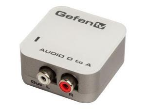 GEFENTV DIGITAL AUDIO TO ANALOG ADAPTER PACKAGE INCLUDES: UNIT; (1) CAB-TLINK-3M