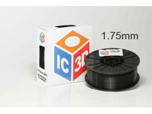 IC3D 1.75mm ABS 3D Printer Filament 2lb Black