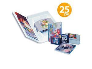 Universal Video Game Case with Full Sleeve Insert (25) Super NES - Sega Genesis - CD - Nintendo 64 Retro Gaming Protective Cases