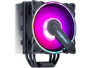 ABKONCORE RGB CPU Cooler CT403B, 4 Continuous Direct Contact Heatpipes, 120mm PWM SYNC Addressable RGB Fan with SYNC 61 LED Modes for Intel LGA1151/1200, AMD AM4/Ryzen CPUs