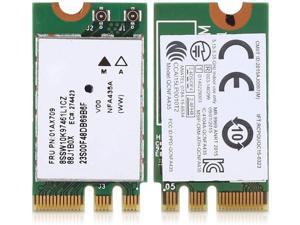 sjlerst Wireless Network Card,2.4G+5G Dual-Band Wireless Network Card,QCNFA435 NGFF/M.2 Interface,for Lenovo IdeaPad 510-15IKB 510S 520S 530S 110 120S E470 E570 E475 E575 E31-80 E42-80