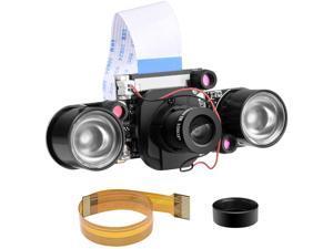 for Raspberry pi Camera Day & Night Vision, IR-Cut Video Camera 1080p HD Webcam 5MP OV5647 Sensor for Raspberry Pi RPi 4 3 B B+ 2B 3A+ 2 1 Zero W by Longruner