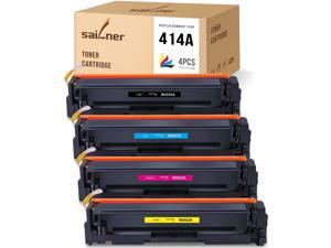 SAILNER NO CHIP Compatible Toner Cartridge Replacement for HP 414A W2020A W2021A W2022A W2023A use with Color Laserjet Pro MFP M454dw M479fdn M479fdw M454dn M479dw (Black Cyan Magenta Yellow, 4 Pack)