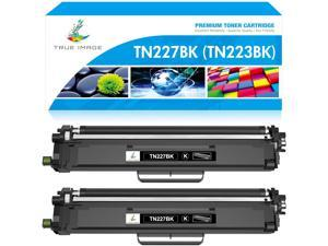 True Image Compatible Toner Cartridge Replacement for Brother TN227 TN-227BK TN223 TN-223BK for HL-L3210CW HL-L3290CDW HL-L3230CDW MFC-L3750CDW MFC-L3710CW MFC-L3770CDW HL-L3270CDW Ink (Black, 2-Pack)