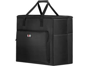 BUBM Desktop Gaming Computer Tower PC Carrying Case Travel Storage Bag for Tower Case, Monitor(Up to 27 inch), Keyboard and Mouse-Black