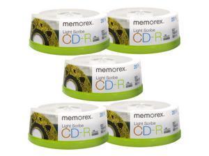 Memorex LightScribe CD-R 52X Recordable Blank Disc Printable Media 700MB/80min - 100 Pack