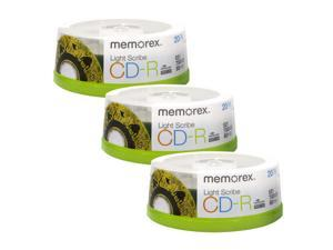 Memorex LightScribe CD-R 52X Recordable Blank Disc Printable Media 700MB/80min - 60 Pack