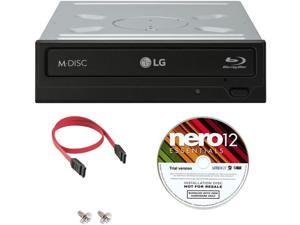 LG WH14NS40 BD Rewriter 14X Speed + Nero12 Software + SATA Cable Kit