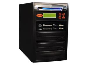 Systor 1 to 1 All-in-One Combo - Flash Media Card (USB/SD/CF/MS) + Single DVD Duplicator - SYS-USBSDCF-01