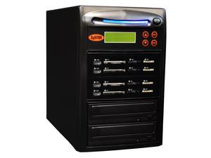 Systor 1 to 3 All-in-One Combo - Flash Media Card (USB/SD/CF/MS) + Single DVD Duplicator - SYS-USBSDCF-03