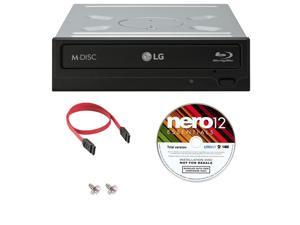 LG 16x WH16NS40 Internal Blu-ray Writer Bundle with Nero Essentials Burning Software and Cable Accessories (Supports CD DVD BD BDXL MDISC)