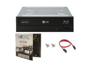 LG WH16NS40 16X M-Disc Blu-ray BDXL CD DVD Internal Burner Writer Drive + FREE 1pk Mdisc DVD + Cable & Mounting Screws