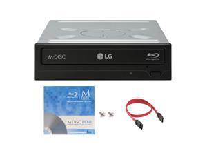 LG WH16NS40 16X M-Disc Blu-ray BDXL CD DVD Internal Burner Writer Drive + FREE 1pk Mdisc BD + Cable & Mounting Screws