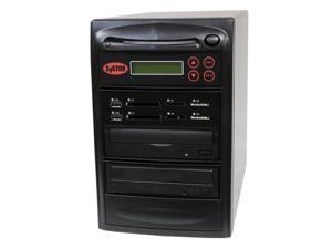 Systor Blu-ray BDXL MultiMedia Center PLUS - Flash Memory Drive (USB/SD/CF/MS/MMC) to Disc Backup + 1 to 1 SATA CD/DVD/BD Duplicator (PMBC-P-BD-01)