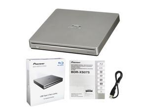 Pioneer BDR-XS07S Portable 6X Blu-ray Burner External Drive with USB Cable - Burns CD DVD BD DL BDXL Discs