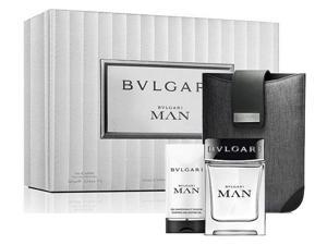 Bvlgari - Man Coffret: Eau De Toilette Spray 100ml/3.4oz + After Shave Balm 100ml/3.4oz + Bag 2pcs+1bag