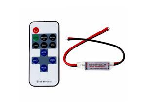 SUPERNIGHT RF Wireless Controller Remote and Mini Dimmer Kit Convenient for Single Color LED Strip Light