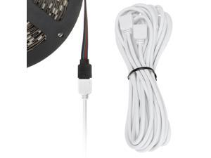 SUPERNIGHT 5m 16.4ft 4 Pin RGB LED Strip Lights Extension Cable for SMD 5050 and 3528 LEDs Strip to Strip or Strip to Controller