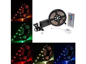 SuperNight 32.8FT RGB LED Strip Light 5050 SMD 30leds/m 300LEDs/Reel Full Kit 10m Colorful non-waterproof Flexible LED Strip + 44key IR Remote controller + DC24V 3A Power Adapter