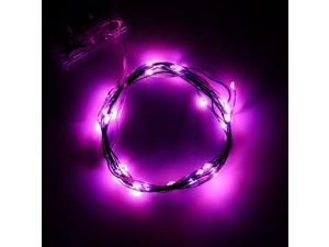 Supernight 2m 20leds Flexible LED Soft Wire String Lights Micro LED Starry Starry Lights AA Battery Operated String Lights for Indoor Outdoor Decoration-Pink