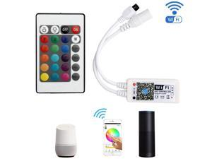 SUPERNIGHT Smart LED Controller, Wireless Smart Controller for RGB Strip Light, Compatible with Alexa,Google Assistant, Voice Control, IOS / Android Smart Phones App Control