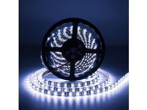 Supernight Cool White LED Strip, 16.4ft 5050 300leds Rope Lighting for TV Backling, Bedroom, Kitchen, Christmas, Waterproof, Black PCB
