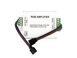 SUPERNIGHT Data Repeater RGB Signal Amplifier For SMD 3528 5050 LED Strip Light, DC 12V 12A