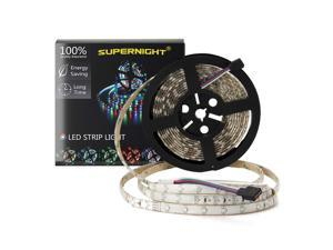 SuperNight® 3528 SMD RGB 300 LEDs 5M 16.4ft Light Strip Flexible Flash Red Green Blue Change Waterproof Lamp 60 LEDs/m