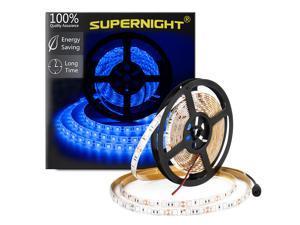 SuperNight® Blue 5M 16.4ft 5050 SMD 300 LEDs Light Strip Super Bright Waterproof Lamp String