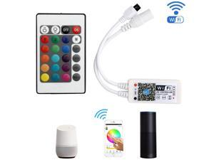 SUPERNIGHT WiFi RGBW LED Strip Light Controller, Music Wireless Smart Remote Control for 5050 RGBW LED Strip Light for Android and iOS Mobile Phone, Alexa, Google Home, Widget, IFTTT and Siri Shortcut