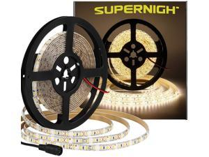 SUPERNIGHT Bright 600pcs LED Strip Waterproof Warm White 4000K , Super Bright 600pcs LEDs, 16.4ft LED Flexible Rope Lights, Lighting for Garden/Home/Kitchen/Car/Bar/Christmas/Party/Indoor
