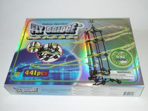 Fly Bridge - Glow-in-the-Dark Marble Run, 441 Pieces.