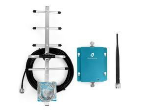 62dB 850MHz Band 5 3G GSM CDMA Cell Phone Signal Booster with Whip and Outdoor Yagi Antenna for Home Boost Voice