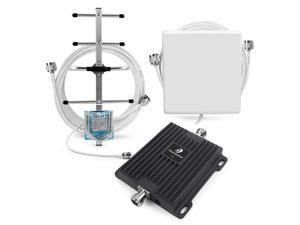 Phonetone 65dB 700MHz Mobile Phone Signal Booster Band 12 & 17 4G LTE Data Cellular Repeater Amplifier Antenna Kit for Home Office Use