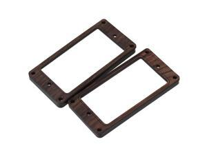 "2x 3.62"""" Rosewood Humbucker Pickup Mounting Ring for Electric Guitar Durable"