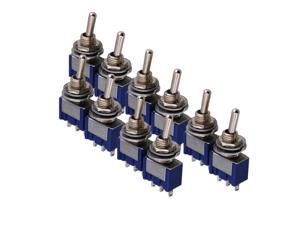 BQLZR 10 PCS Toggle Switch Single Pole Double Throw ON-ON Guitar Amplifier 2 Way