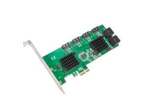 8 Port SATA III to PCIe 3.0 x1 NON-RAID Expansion Card