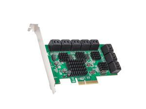 16 Port SATA III PCIe x4 (x2 Bandwidth) NON-RAID Expansion Card